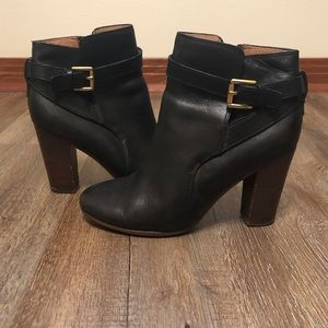 Coach Black Leather Ankle Booties